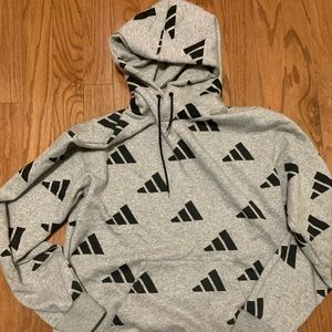 Adidas all over logo hoodie